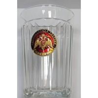 Стакан стеклянный граненный с сувенирным жетоном национальная гвардия