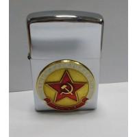 Зажигалка бензиновая с сувенирным жетоном Звезда Армия Авиация Флот