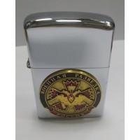 Зажигалка бензиновая с сувенирным жетоном Военная разведка