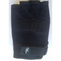 Перчатки из трикотажа черного цвета короткие пальцы