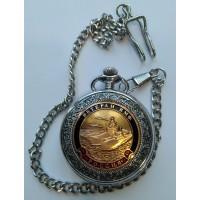 Часы с сувенирным жетоном Ветеран ВМФ