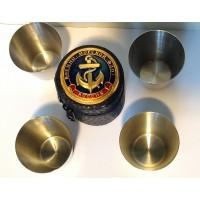 Набор стопок в кожаном чехле с символикой малый Военно-Морской Флот