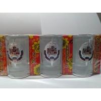 Набор стеклянных стаканов с сувенирным жетоном МВД