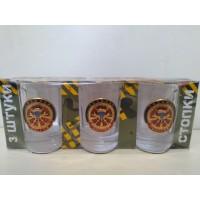 Набор стеклянных стаканов с сувенирным жетоном Спецназ ВДВ
