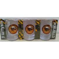 Набор стеклянных стаканов с сувенирным жетоном Разведка ВДВ мышь