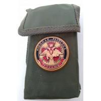 Набор столовых приборов  в чехле с символикой Военная разведка гвоздика