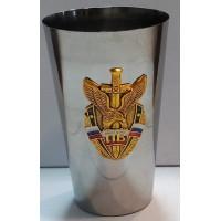 Стакан стальной с сувенирным жетоном Пограничные войска