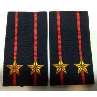 Фальшпогоны Полиция подполковника вышитые нитью золотого цвета