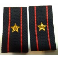Фальшпогоны Полиция майора вышитые нитью золотого цвета