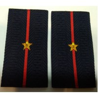 Фальшпогоны Полиция младшего лейтенанта вышитые нитью золотого цвета