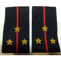 Фальшпогоны Полиция старшего лейтенанта вышитые нитью золотого цвета