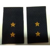 Фальшпогоны Полиция прапорщика вышитые нитью золотого цвета