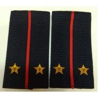Фальшпогоны Полиция лейтенанта вышитые нитью золотого цвета
