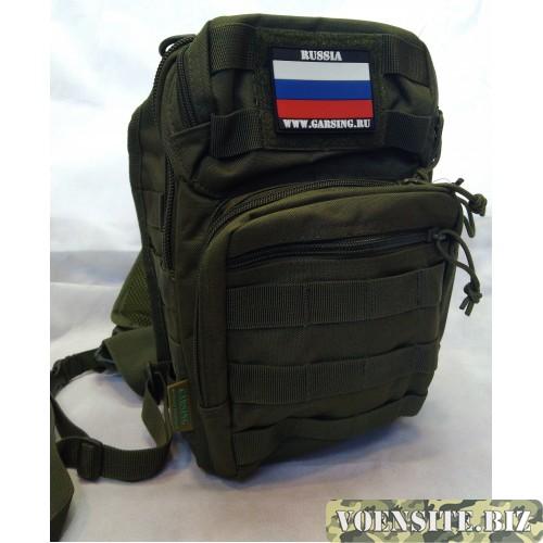 Рюкзак-сумка тактический с системой МОЛЛЕ оливкового цвета