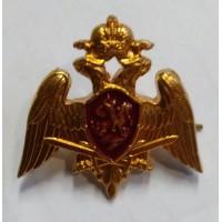 Эмблема петличная Росгвардии золото металл