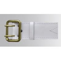 Ремень офицерский кожаный белый жестяная пряжка