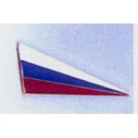 Знак угол малый металл чистый на берет