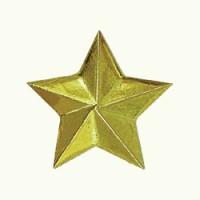Звезда 20 мм полиамид золото