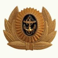 Кокарда ВМФ большая металл золото