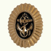Овал ВМФ металл золото