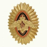 Овал ПВ металл золото офицерский