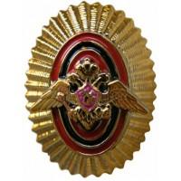 Овал пограничные войска полиамид золото официальный