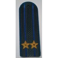 Погоны юстиции с вышитыми золотом звездами подполковник
