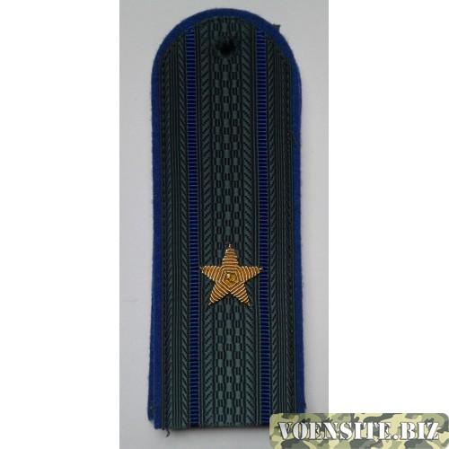 Погоны юстиции с вышитыми золотом звездами майор