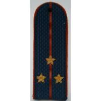 Погоны МЧС с вышитыми золотом звездами старший лейтенант