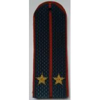Погоны МЧС с вышитыми золотом звездами лейтенант