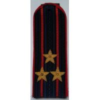 Погоны Полиции с вышитыми золотом звездами полковник