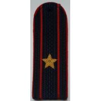Погоны Полиции с вышитыми золотом звездами майор