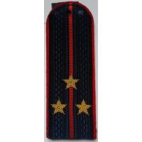 Погоны Полиции с вышитыми золотом звездами старший лейтенант