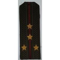 Погоны Внутренние войска с вышитыми золотом звездами капитан