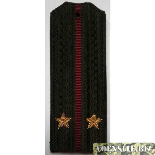 Погоны Внутренние войска с вышитыми золотом звездами лейтенант