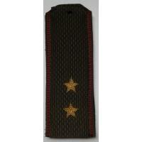 Погоны Внутренние войска с вышитыми золотом звездами прапорщик