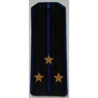 Погоны ФСБ с вышитыми золотом звездами старший лейтенант