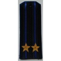 Погоны ФСБ  вышитыми золотом звездами подполковник