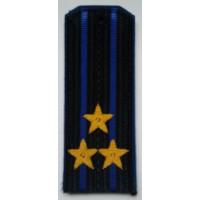 Погоны ФСБ  вышитыми золотом звездами полковник