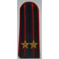 Погоны МВД с вышитыми золотом звездами подполковник