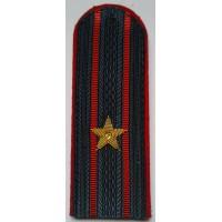 Погоны МВД с вышитыми золотом звездами майор