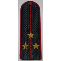Погоны МВД с вышитыми золотом звездами старший лейтенант