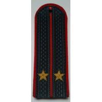 Погоны МВД с вышитыми золотом звездами лейтенант