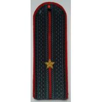 Погоны МВД с вышитыми золотом звездами младший лейтенант
