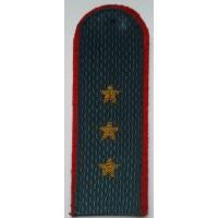 Погоны МВД с вышитыми золотом звездами старший прапорщик