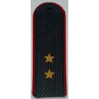 Погоны МВД с вышитыми золотом звездами прапорщик