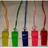 Свисток пластмассовый цветной