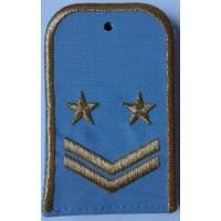 Погоны РЖД голубого цвета с вышитыми золотом 2 звездами и 2 лычками