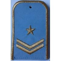 Погоны РЖД голубого цвета с вышитыми золотом 1 звездой и 2 лычками