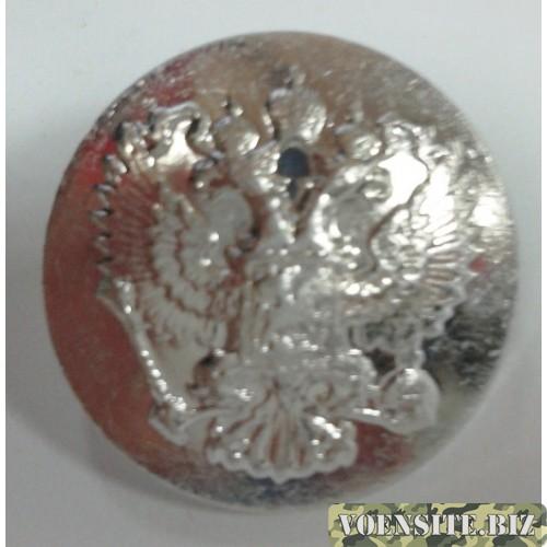 Пуговица большая металл серебро без ободка